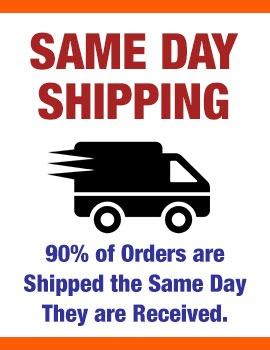 Same Day Shipping!