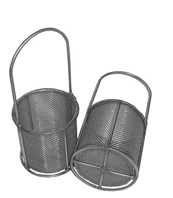 Small parts baskets used for processing black oxide parts can be custom made to your specifications.