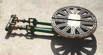 Large Radial Gas Burner used for LP or natural gas.