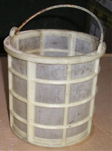 Custom made Polypropylene small parts baskets used for acid treating parts.